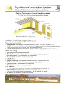 Styroframe brochure title